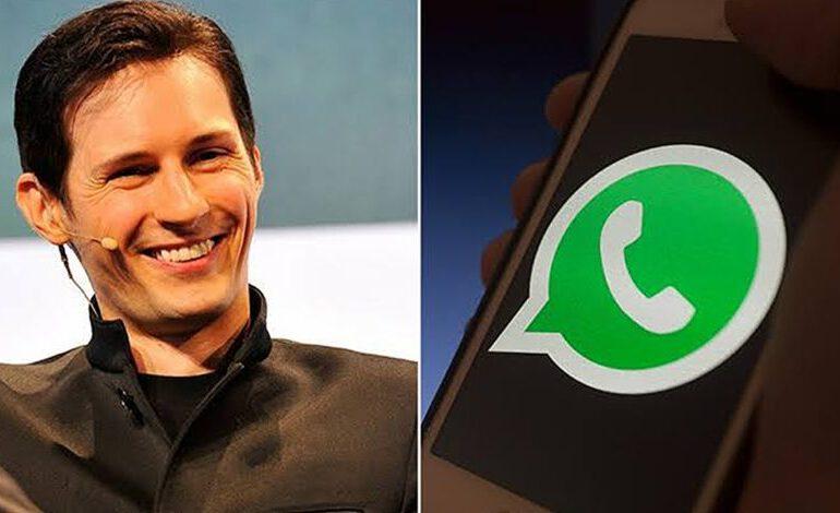 Le fondateur de Telegram pense que WhatsApp est dangereuse