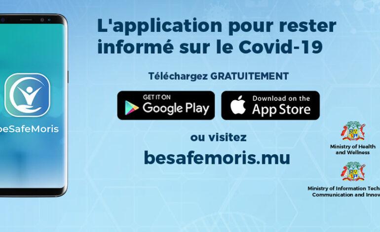 BeSafeMoris, une appli pour sensibiliser sur le Covid-19