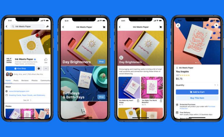 E-commerce : Facebook lance Shops pour les petites entreprises