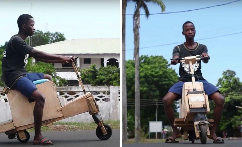 Ghana : un adolescent fabrique un scooter électrique solaire