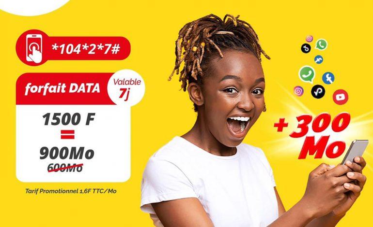 Togocom offre 300Mo de Bonus sur le forfait data de 1500 F !