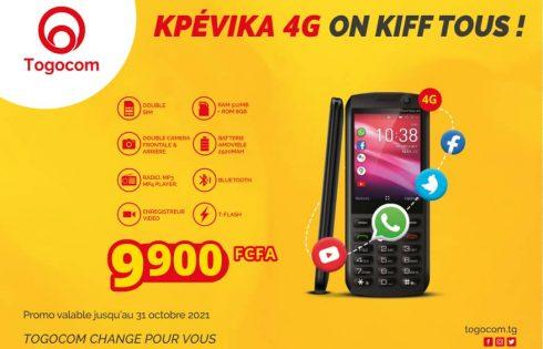 TOGOCOM propose un téléphone portable 4G non tactile