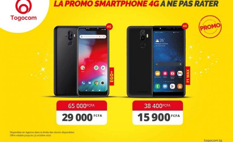 Togocom baisse les prix de ses smartphones 4G